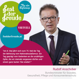 Rudolf Anschober, Bundesminister für Soziales, Gesundheit, Pflege und Konsumentenschutz