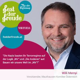 Willi Merny, Vorsitzender, Mauthausen Komitee Österreich